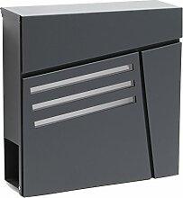 Moderner Design Briefkasten V25 Anthrazit