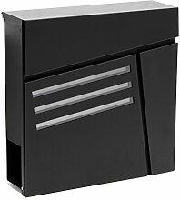 Moderner Design Briefkasten V25 Schwarz
