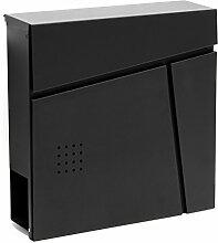 Moderner Design Briefkasten V26 Schwarz