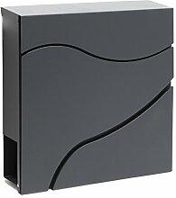 Moderner Design Briefkasten V27 Anthrazit
