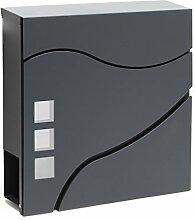 Moderner Design Briefkasten V28 Anthrazit