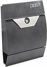 Moderner Design Briefkasten V3 Basaltgrau