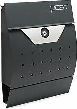 Moderner Design Briefkasten V5 Anthrazit