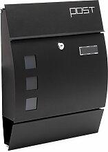 Moderner Design Briefkasten V8 Schwarz