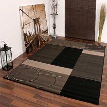 Moderner Designer Kurzflor Teppich versch. Farben u. Grössen, Grösse:70x140 cm;Design:Design 12