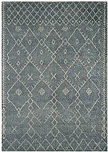 MODERNER Designer Teppich AMIST Moroccan, blau,