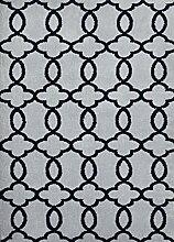 Moderner Designer Teppich ARIZONA 060x115 Grau