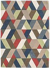 MODERNER Designer Teppich GLOMA, Multi Color