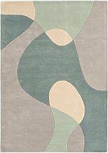 Moderner Designer Teppich Maiden MAX56 200X300 ARC SKY Blau 60% Wool - 40% Viscose