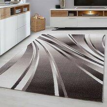 MODERNER Designer Teppich Parma 9210, braun, 200 X