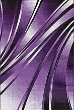 MODERNER DESIGNER TEPPICH PARMA 9210 LÄUFER, lila, 80 X 300 cm