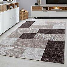 MODERNER Designer Teppich Parma 9220, braun, 200 X