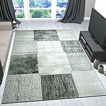 Moderner Designer Teppich Patchwork Design in Grau Meliert mit Konturenschnitt - VIMODA, Maße:120x170 cm …