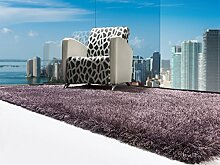 Moderner Designer Teppich Shaggy SAPPHIRE 160