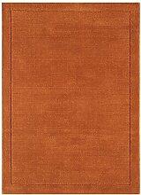 MODERNER Designer Teppich VILAIN, terrakotta, 160