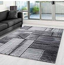 Moderner Designer Wohnzimmer Teppich mit Holzmotiv