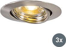 Moderner Einbauspot aus neigbarem Stahl inkl. LED