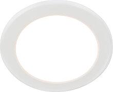 Moderner Einbaustrahler weiß 12 W inkl. LED - Unit