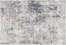 Moderner elfenbeinfarbener Teppich 160 x 230 cm