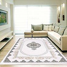 Moderner Europäisch-Orientalischer Teppich Aegea (120 cm x 170 cm, Grey Square)