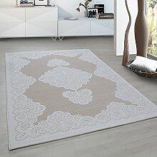 Moderner Europäisch-Orientalischer Teppich Aegea (200 cm x 290 cm, Beige Palace Flowers)