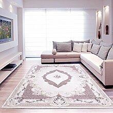 Moderner Europäisch-Orientalischer Teppich Aegea (80 cm x 150 cm, Ellypsis Damson)