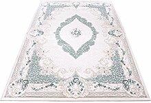 Moderner Europäisch-Orientalischer Teppich Aegea (80 cm x 150 cm, Ellipsis Turquoise)