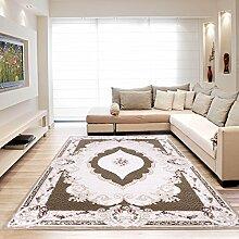Moderner Europäisch-Orientalischer Teppich Aegea (80 cm x 300 cm, Ellypsis Brown)