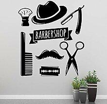 Moderner Friseurladen Wandkunst Aufkleber