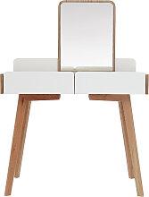 Moderner Frisiertisch mit Spiegel und