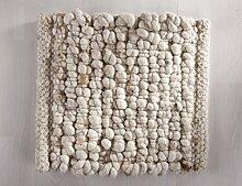 Moderner Handwebteppich Rock aus hochwertiger