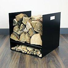 Moderner Kaminholzkorb/Brennholzhalter für