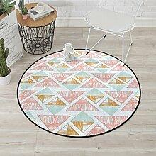 Moderner kreisförmiger Teppich mit Buntem Muster