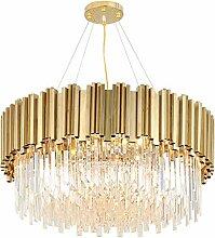 Moderner Kristallleuchter, LED Pendelleuchte Gold