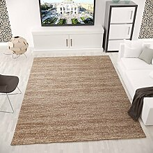 Moderner Kurzflor Teppich Meliert OEKO TEX Zertifiziert Farbechtheit Pflegeleicht in BRAUN – VIMODA; Maße: 120x170 cm