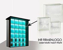 Moderner LED-beleuchteter Infopoint, Empfangstheke für Büro, Arzt-Praxis, Hotel oder Boutique Light my wall®