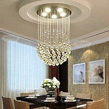 Moderner minimalistischer Kristallleuchter, rund,