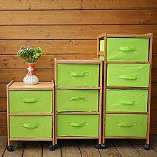 Moderner nachttisch Bambus garderobe Bambus nachttisch Simple fashion locker Grün schränke-A