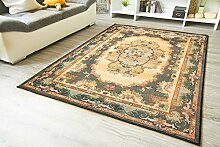 Moderner Orientteppich Gabolo Aubusson Blau - Vintage Perser Teppich Muster - Öko-Tex, Größe: 120x180 cm