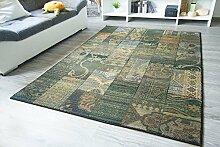 Moderner Orientteppich Gabolo Vintage Blau - Vintage Perser Teppich Muster - Öko-Tex, Größe: 68x135 cm