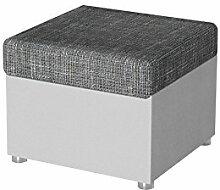 Moderner Polsterhocker Rumba klein, Sitzhocker Hocker Sitzbank Fußbank Pouf Farbauswahl (Rain 01 + Valencia 101)