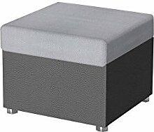 Moderner Polsterhocker Rumba klein, Sitzhocker Hocker Sitzbank Fußbank Pouf Farbauswahl (Soft 020 + Luksor 2789)