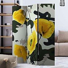 Moderner Raumteiler mit Mohnblumen Motiv 3 oder 5