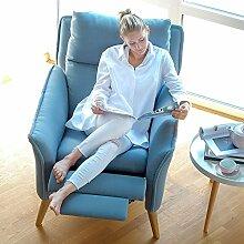 moderner Relax Sessel in Premiumqualität im skandinavischem Stil. Stillsessel mit Schlaffunktion und hoher Lehne aus der Kollektion Insideout in 11 verschiedenen Stoffen und verschiedenen Massivholzarten.