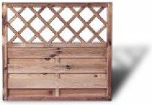 """Moderner Sichtschutz Balkon Dichtzaun mit Rankgitter Maß 100 x 90 cm (Breite x Höhe) aus Kiefer/Fichte Holz, druckimprägniert """"Berlin Rankgitter"""