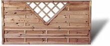 """Moderner Sichtschutz Terrassen Dichtzaun mit Rankgitter in V-Form Maß 180 x 90 cm (Breite x Höhe) aus Kiefer/Fichte Holz, druckimprägniert """"Berlin Rankgitter"""