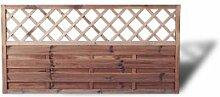 """Moderner Sichtschutz Vorgartenzaun mit Rankgitter Maß 180 x 90 cm (Breite x Höhe) aus Kiefer/Fichte Holz, druckimprägniert """"Berlin Rankgitter"""