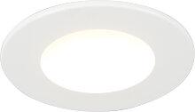 Moderner Spot weiß 8,3 cm inkl. LED IP65 - Blanca