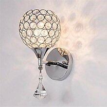 Moderner Stil Kristall Wandlampe Kerzenhalter Rund