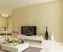 Moderner Stroh Vliesfasertapete Uni, Farbe Tapete Tapete Wohnzimmer Schlafzimmer TV Put the Hintergrund Tapete, beige